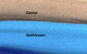 Colours. Camel Small Gulf Stream Large