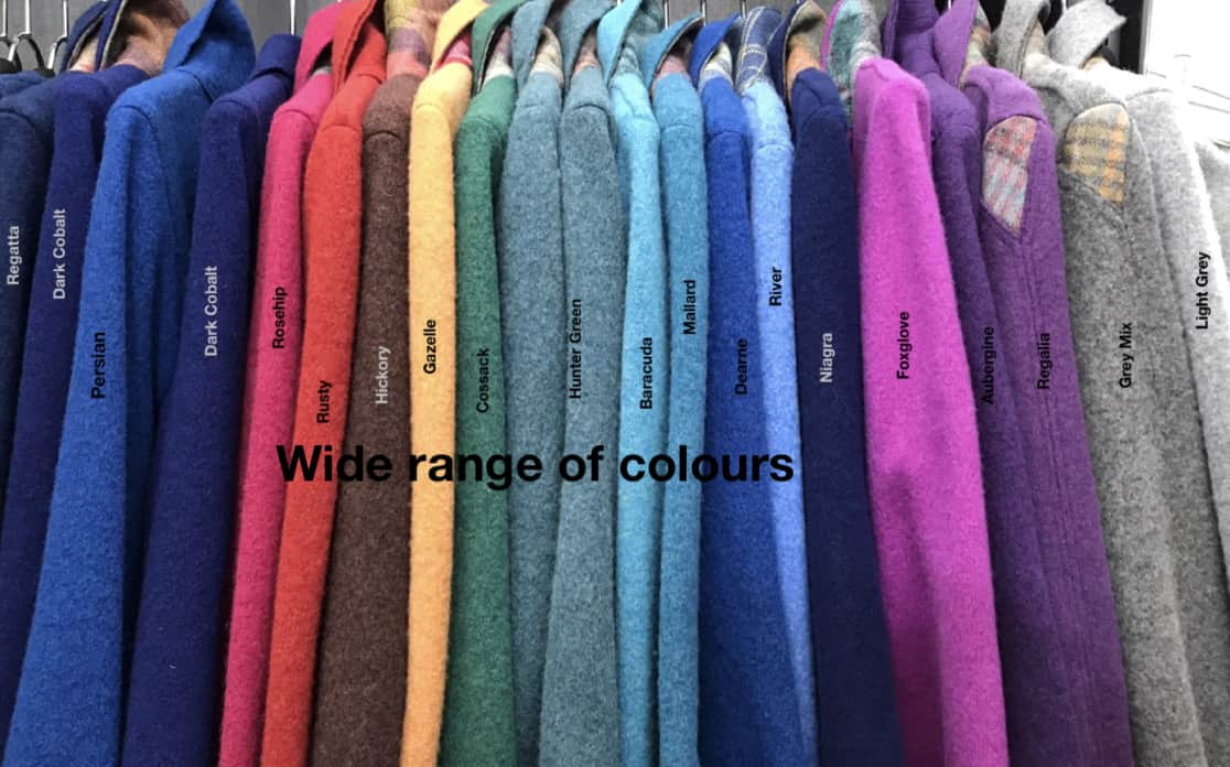wide range of colours