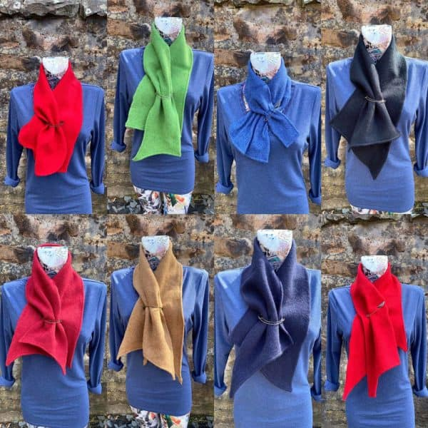 Pinned Scarves