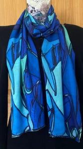 Doodle design on cashmere modal blend pashmina