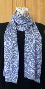 Cashmere modal blend pashmina with fern design on