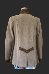 Back detail of the colt highlander showing the low pleat and belt detail
