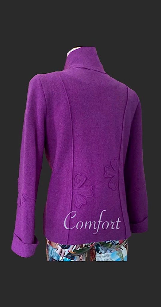 Comfortable wool jacket , comfort, wool jacket, foxglove wool jacket